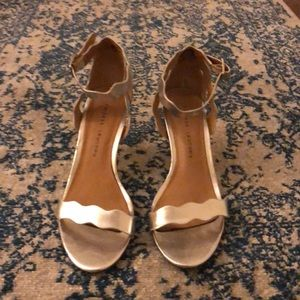 Silver 2 1/2 inch Chinese Laundry heels